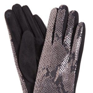 Women's Winter Snake Print Smart Touch Gloves